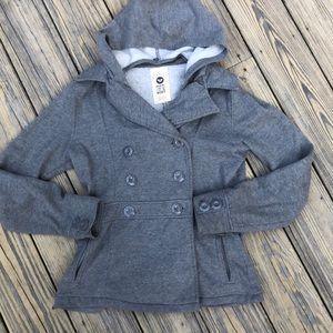 Roxy Grey Pea Coat